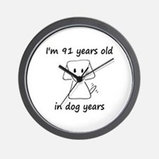 13 dog years 6 - 2 Wall Clock