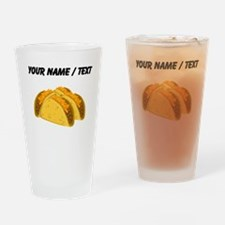 Custom Tacos Drinking Glass