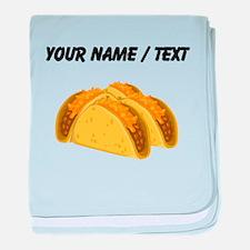 Custom Tacos baby blanket