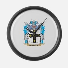 Morrissey Coat of Arms - Family C Large Wall Clock