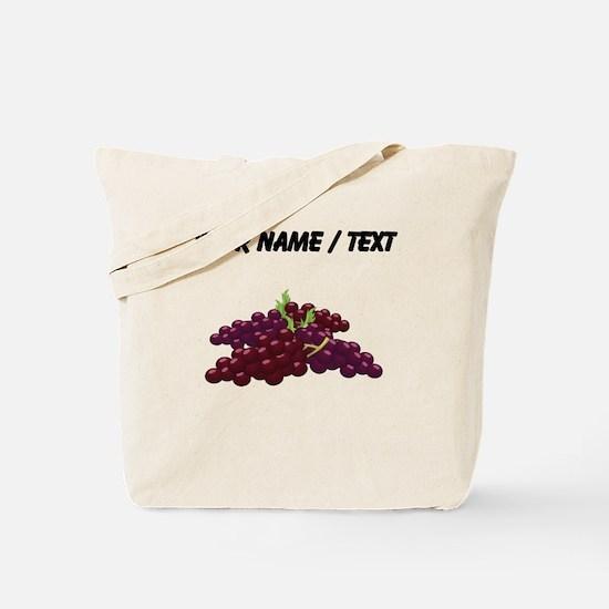 Custom Bunch Of Grapes Tote Bag