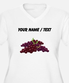 Custom Bunch Of Grapes Plus Size T-Shirt
