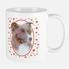 Border Collie Hearts Mug