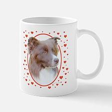Border Collie Hearts Small Small Mug