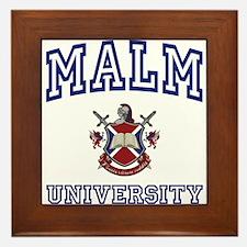 MALM University Framed Tile