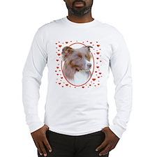 Border Collie Hearts Long Sleeve T-Shirt