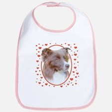 Border Collie Hearts Bib