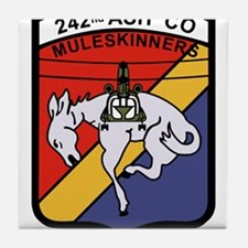 242nd ASH Company Muleskinners.png Tile Coaster