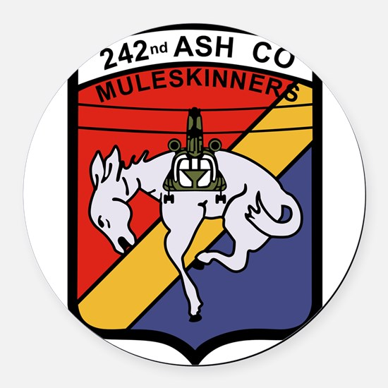 242nd ASH Company Muleskinners.pn Round Car Magnet