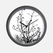 Leaf-Bare Walnut Tree Wall Clock