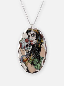 Gypsy Rose Necklace Oval Charm