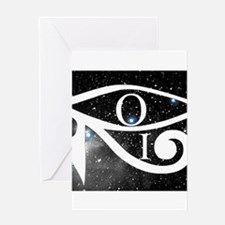 Orion and Eye of Horus Greeting Cards