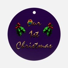 Our 1st Christmas Gift Ornament (Round)
