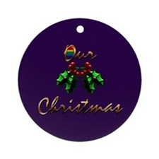 Our Christmas Gift Ornament (Round)