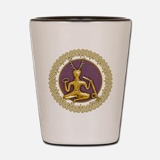 Gold Cernunnos With Snake in Circle - 8 Shot Glass