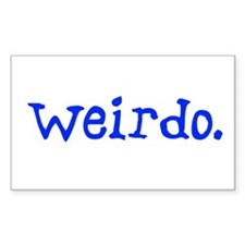Weirdo Sticker (Rect.)