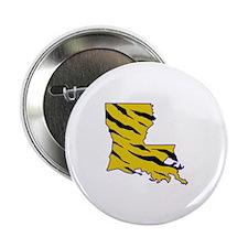 "LOUISIANA TIGER STRIPED 2.25"" Button (10 pack)"