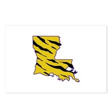 LOUISIANA TIGER STRIPED Postcards (Package of 8)