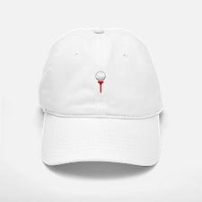 GOLF BALL ON TEE Baseball Baseball Baseball Cap
