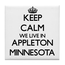 Keep calm we live in Appleton Minneso Tile Coaster