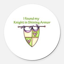 MY KNIGHT Round Car Magnet