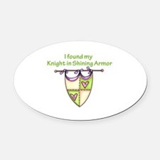 MY KNIGHT Oval Car Magnet