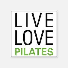 "Cute Pilates love Square Sticker 3"" x 3"""