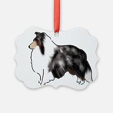 shetland sheepdog blue merle Ornament