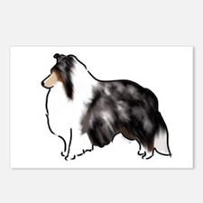 shetland sheepdog blue merle Postcards (Package of