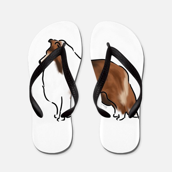sable sheltie Flip Flops