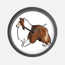 sable sheltie Wall Clock