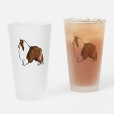 sable sheltie Drinking Glass