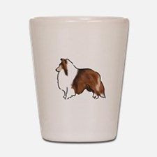 sable sheltie Shot Glass