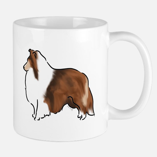 sable sheltie Mugs