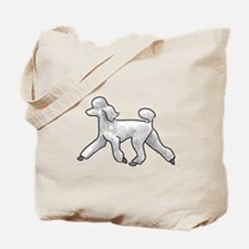 poodle white Tote Bag