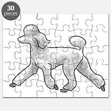 poodle white Puzzle