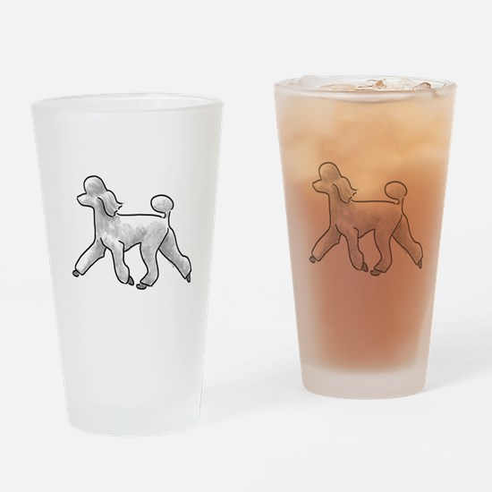 poodle white Drinking Glass