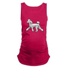 poodle white Maternity Tank Top