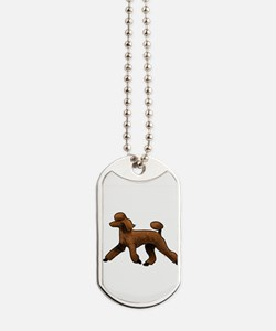 red poodle Dog Tags
