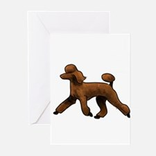 red poodle Greeting Cards