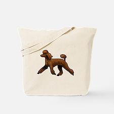red poodle Tote Bag