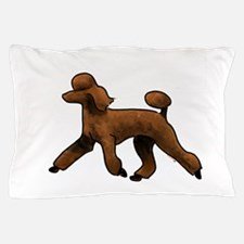 red poodle Pillow Case