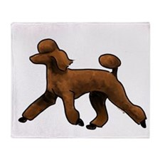 red poodle Throw Blanket