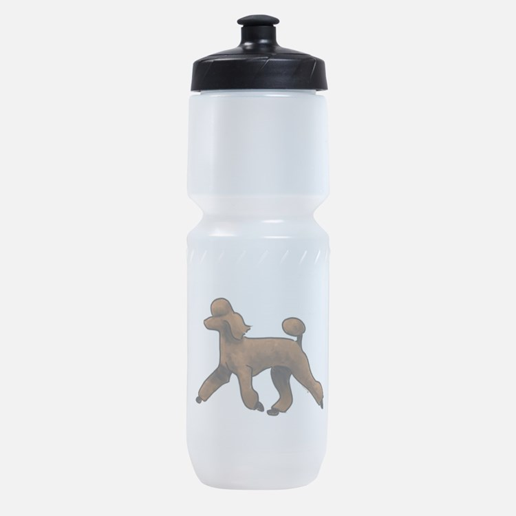 red poodle Sports Bottle