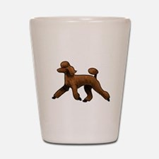 red poodle Shot Glass