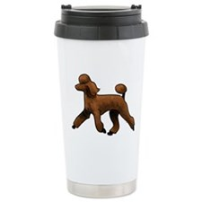 red poodle Travel Mug