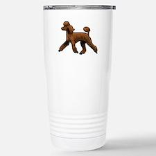 red poodle Travel Mug