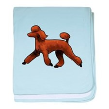 red poodle baby blanket