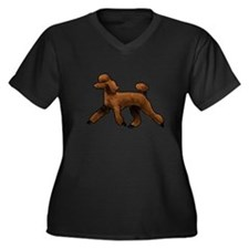 red poodle Plus Size T-Shirt