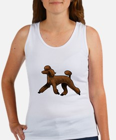 red poodle Tank Top